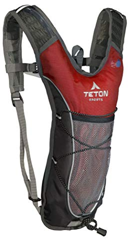 TETON Sports TrailRunner 2.0 Hydration Pack; Backpack for Hiking, Running and Cycling; Free 2-Liter Hydration Bladder; Red ,16.5-Inch x 10.5-Inch x .7-Inch