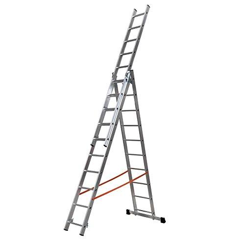 Modula AL420, uittrekbare ladder, aluminium, model 5, 3 x 10 cm