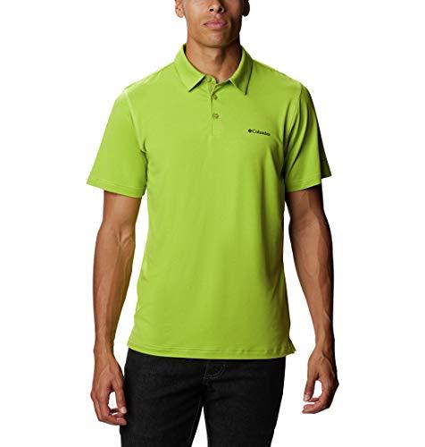 Columbia Men's Tech Trail Polo Shirt, Sun Protection, Moisture Wicking, Matcha, Small