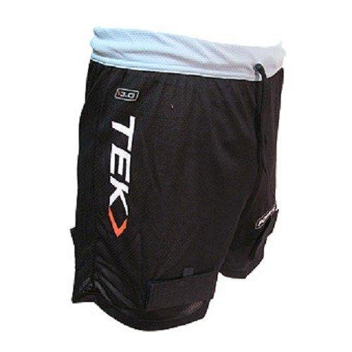 PowerTek Adult Ladies Mesh Loose Ice Hockey Jill Shorts, Pelvic Protector & Tabs for Socks (Ladies, Large)