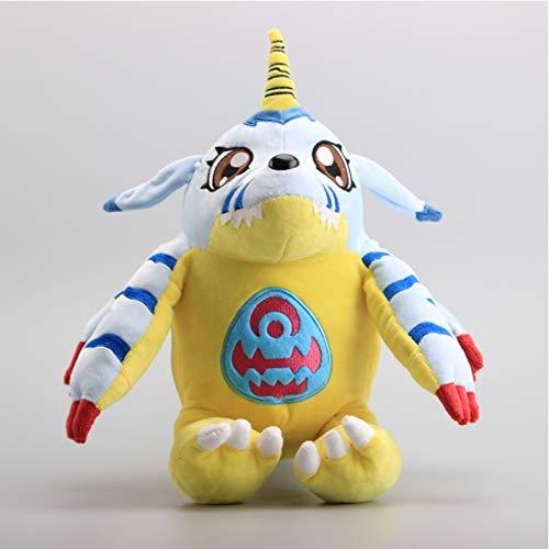 ZzSTX Plüschtier Gabumon & Digimon Agumon Plüschpuppen Gefüllte Puppe Spielzeug Für Kinder Kindergeschenke 35Cm