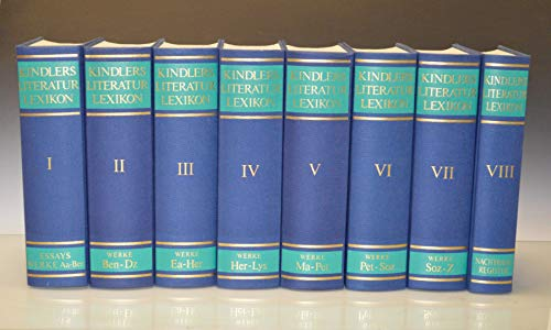 Kindlers Literaturlexikon. 8 Bände.