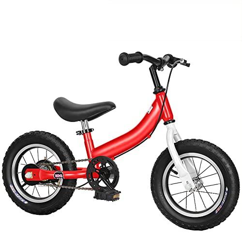 DFBGL Bicicleta de Equilibrio con Kit de Pedal, Pedal extraíble, Bicicletas para niños con Soporte y Freno de Mano Bicicletas para niños, Altura del Asiento Ajustable para niños de 2 a 8