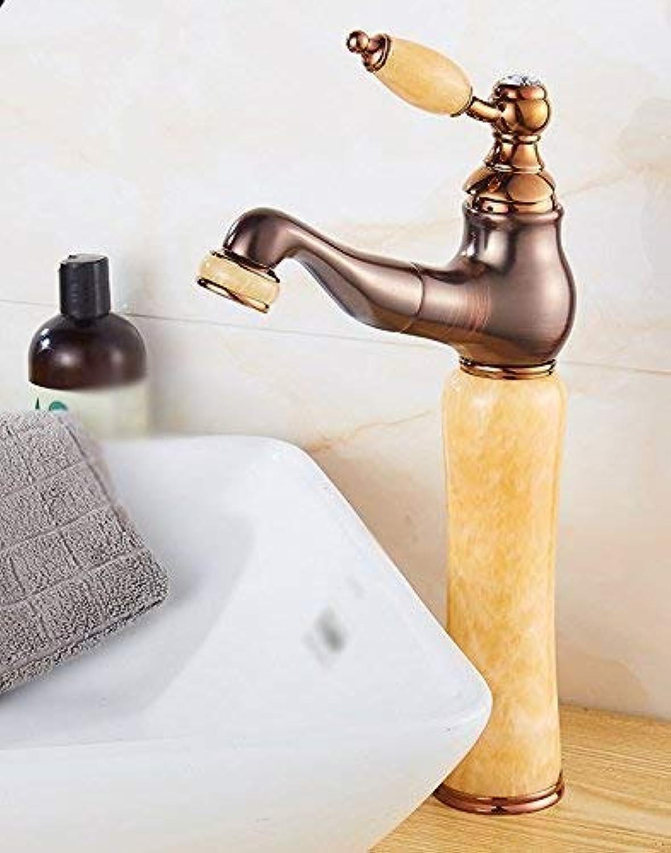 Oudan Kupfer-Jade-Becken hei und kalt und ziehen Sie die Spültischarmaturen heraus