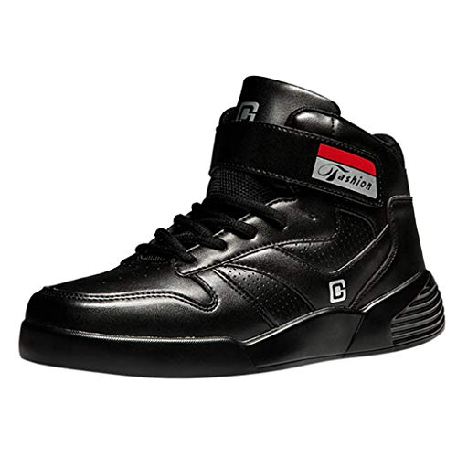 Buy Bargain Men's High-Top Comfort Breathable Wear-Resistant Non-Slip Flat Shoes Autumn Winter Outdo...