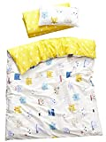 MEJU Cats Kitty 100% Cotton Duvet Cover + Pillowcase Bedding Set with Zipper Closure for Baby Toddler Boys...