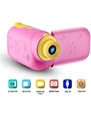 RUilY® Kids Camcorder 5MP 16MB Memory 2.4 TFT Screen Mini for Kids Camcorder Camera (Pink)