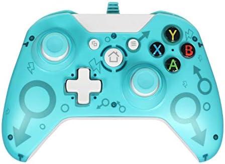 Manette Filaire Contrôleur de Consoles Jeux Compatible avec Xbox One, Xbox One S, Xbox One X, Windows PC (Green)