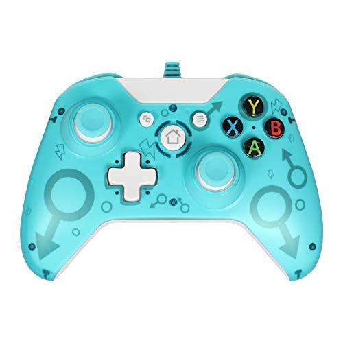 Kabelgebundener Controller Gamepad Kompatibel mit Xbox One, Xbox One S, Xbox One X, Windows PC Controller mit Dual-Vibration (Green)