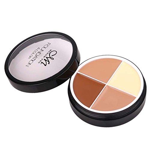 Kit Correcteur De Teint Foncé Contour De Palette De Correcteur De Surligneur 4 Couleurs De Maquillage - # 4