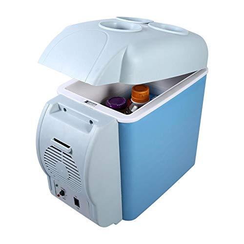 Mini draagbare koelkast met koel- en verwarmingsfuncties, milieuvriendelijke koeler en warmer, deksel van de koelbox met 3 drankstoelen voor auto, camping, reizen, wegritten, picknick