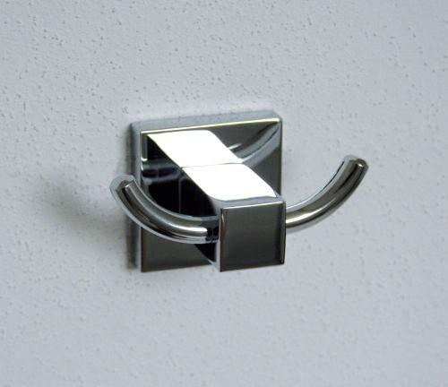 Fackelmann Doppelhaken MARE, verchromter Handtuchhalter, Kleiderhaken (Farbe: Silber), Menge: 1 Stück