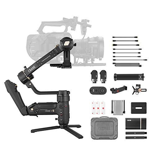 Zhiyun Crane 3S Pro Kit [Official] Handheld 3-Axis Gimbal Stabilizer for DSLR Cinema Cameras and Camcorder (PRO Package)