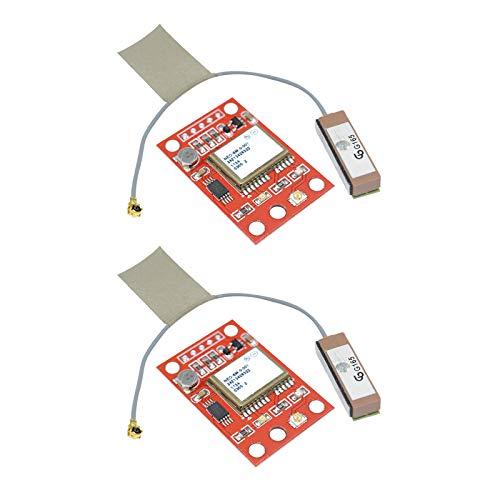 Aideepen 2 unidades GY-NEO6MV2 NEO-6M módulo GPS NEO6MV2 con placa de control de vuelo EEPROM MWC APM2 APM2.5 controlador de antena grande