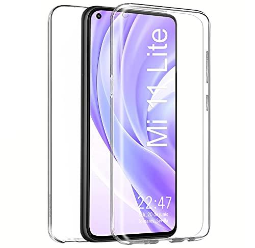 Funda 360 para Xiaomi Mi 11 Lite (4G y 5g) Carcasa Doble Cara Delantera + Trasera TPU Rigido Dos Partes Máxima Visión Transparente