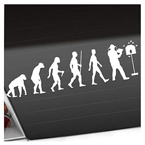 Kiwistar Evolution Imker - Honigbiene Aufkleber Sticker 25 Farben Neon Matt