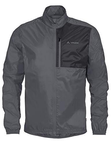 VAUDE Herren Jacke Men's Moab UL Jacket II, Ultraleichte Windjacke zum Mountainbiken, winddicht, sehr atmungsaktiv, iron, 50, 415268445300