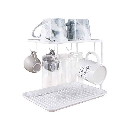 FUJGYLGL Organizador de Tazas, portavasos de Metal for Tazas de Almacenamiento, portavasos Antideslizante Seguro y Estable, decoración del hogar (Color : White)