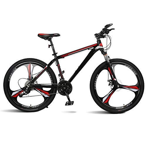 ZHYLOVE 26 Inch Hardtail Mountain Bike Double Disc Brake Aluminum Alloy MTB Mountain Bicycle with Front Suspension Adjustable Seat 27/30 Speed Mountain Bike Unisex,Red,30 Speed