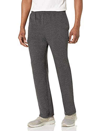 Amazon Essentials Men's Fleece Sweatpant, Charcoal Heather, Large