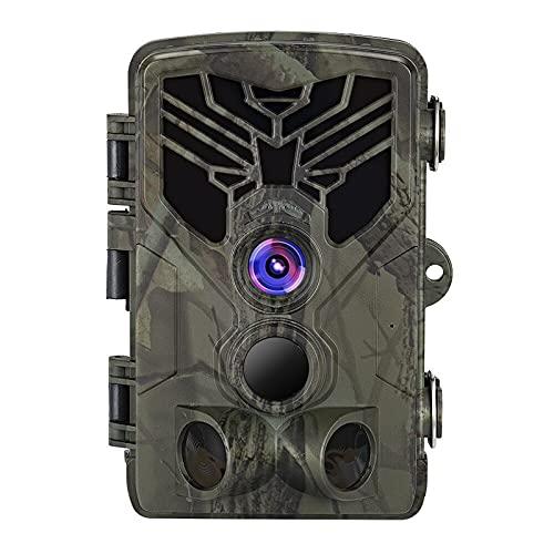 Cámara 24MP 1296P WLAN Bluetooth WiFi Cámara de caza con detector de movimiento Visión nocturna Cámara de caza de la vida salvaje, HD A prueba de agua Visión nocturna Caza infrarroja, IP66 para garaje