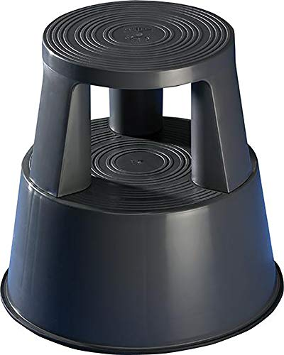 Wedo 212212 Rollhocker Step aus Kunststoff, Höhe 43 cm, Tragkraft 150 kg, grau
