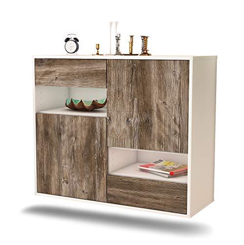 Dekati dressoir Spokane hangend (92x77x35cm) romp wit mat | front houten design | Push-to-Open modern drijfhout.