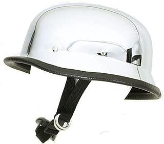 Chopper Biker Motorcycle German Chrome Novelty Helmet (2XL)