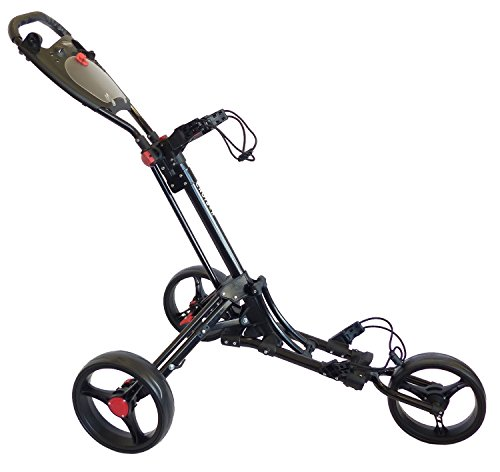 CRUISER GOLF CR-6 Deluxe Three Wheel Trolley - One Button Easy Fold