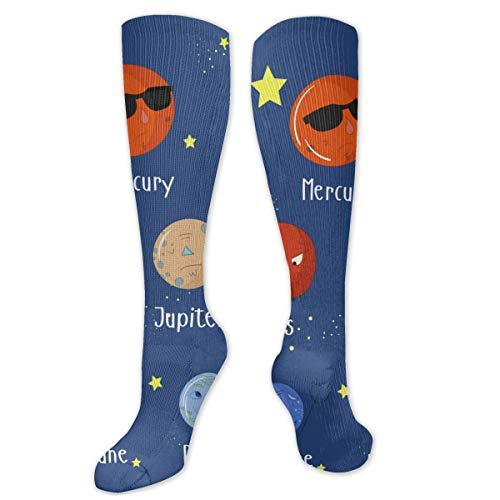 Educatief spel voor kinderen leren planeten1 sokken knie hoge sokken vrouwen 50cm
