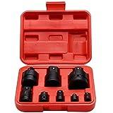#NA 8 unids/Set Adaptador de Manga neumático Martillo perforador Herramientas eléctricas Cruzado Sub 1/2 Llave de Impacto neumática