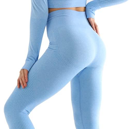QTJY Pantalones de Yoga elásticos y de Secado rápido para Mujer, Pantalones Deportivos para Correr al Aire Libre, Cintura Alta, Cadera, Medias de Cadera, Pantalones de Fitness CL