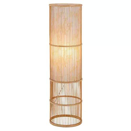 LED Bamboe Vloerlamp, Nieuwe Chinese Stijl Woonkamer Studie Nachtlamp, Slaapkamer Warm Bedkant Bamboe Lamp