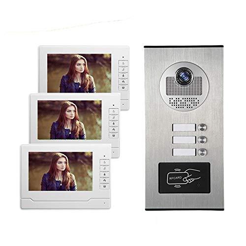 Telefonillo portero Apartamentos de baja altura la construcción de la puerta de intercomunicación tarjeta de identificación visión timbre video color de alta definición a prueba de lluvia la noche de