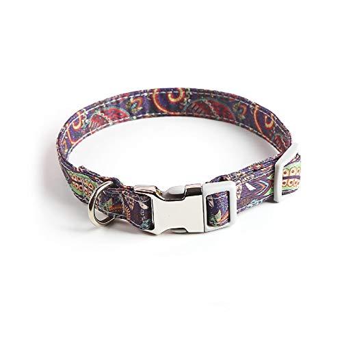 FIYRA Collares para mascotas, collares de gato de la marca de perro, collares de perro de mascota antipérdida, collar elástico para gatos y perros, utilizado para la decoración del cuello de mascotas