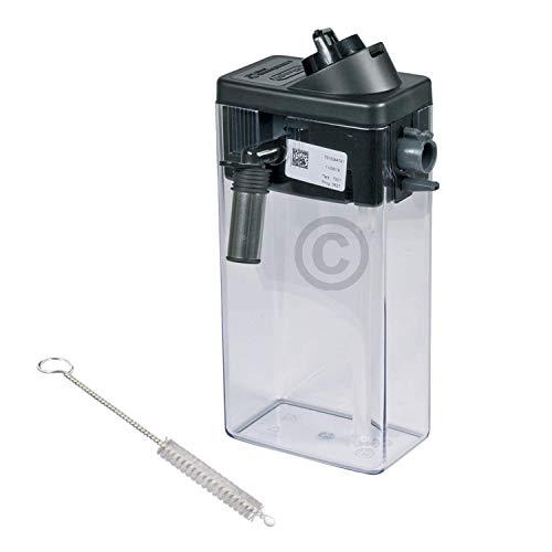 DL-pro Milchbehälter Milchkanne mit Deckel für DeLonghi 5513296641 ECAM Kaffeemaschine mit DL-pro Reinigungsbürste