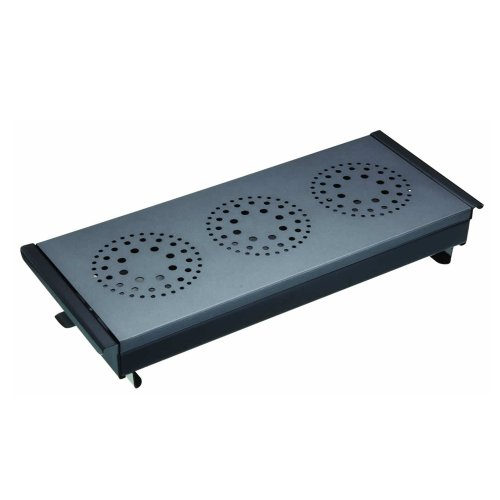 MasterClass Professional Triple Table-Top Tea Light Food/Plate Warmer, Carbon Steel, Black/Grey