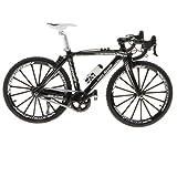 SM SunniMix 全12カラー 1/10スケール 自転車玩具 ダイキャストバイクモデル おもちゃ - 黒 1