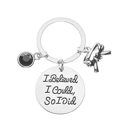 Sportybella Martial Arts Keychain, I Believed I Could So I Did Belt Keychain, Martial Arts Gift