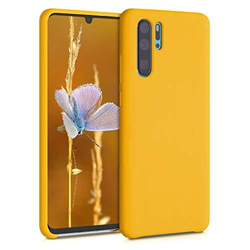 kwmobile Custodia Compatibile con Huawei P30 PRO - Cover in Silicone TPU - Back Case per Smartphone - Protezione Gommata Giallo Zafferano
