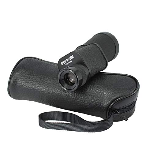 Baigish 12 x 45 Fernglas Mini Monokular Pocket Military HD 8x Zoom BK4 HD Optisches Glas Russische Armee Fernglas