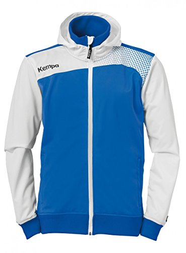 Kempa Emotion Veste a Capuche Homme, azurbleu/Blanc, FR (Taille Fabricant : XXS/XS)