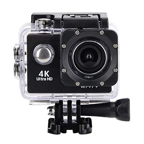 Mugast 4K actiecamera, 12MP HD WiFi waterdichte camera sport van 30m duikvermogen met groothoeklens ondersteunt externe geheugenkaart voor skiën/zwemmen/paardrijden
