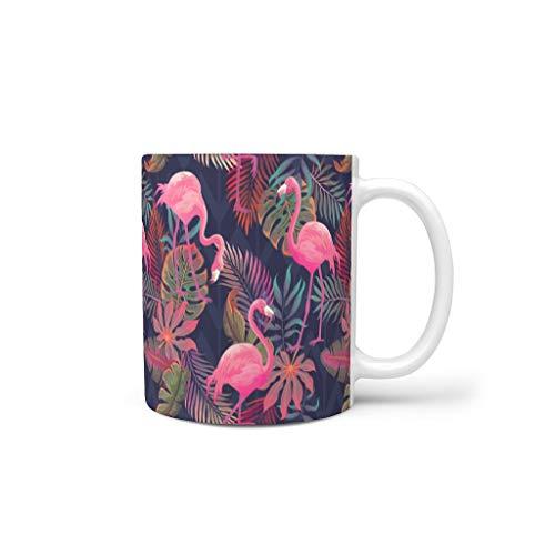 Flamingo O5KFD & 8 11 ounce, theebeker met handgreep, hoogwaardige keramische unieke beker – Flamingo mannen, geschikt voor het gezin