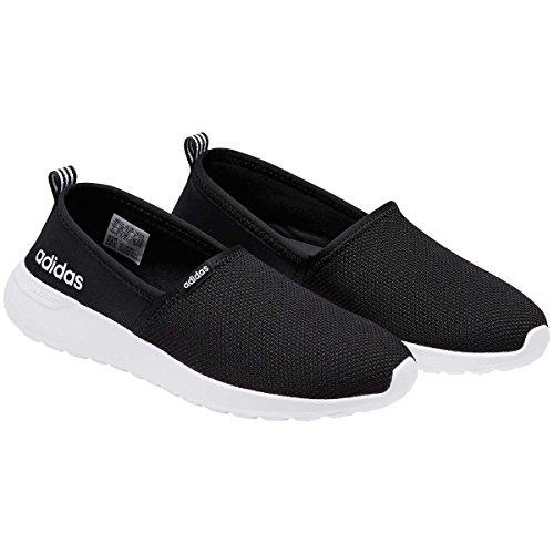 adidas Neo Women's Lite Racer Slip on W Casual Sneaker (6.5 B(M), Black/White)