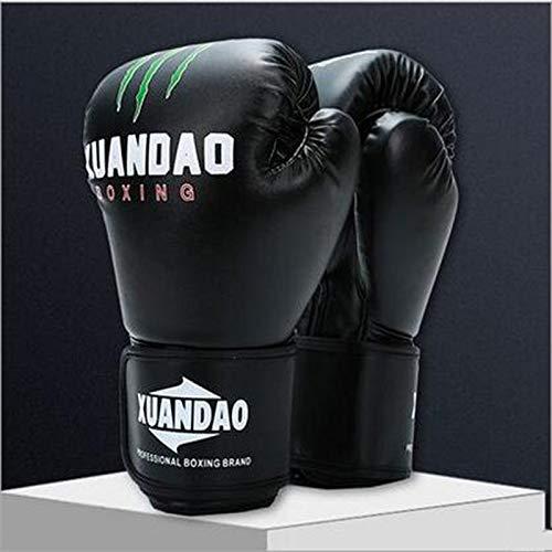 QJSTDM Verdickte verschleißfeste Boxhandschuhe Volle Finger Kämpfen Boxen Sanda Für Männer Frauen Fitness Sport Training Erwachsene Boxerhandschuh Freie Größe Schwarz Ghost Claw