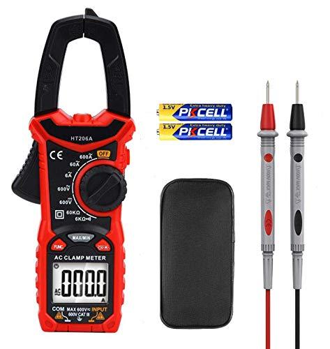 Hattomen Digital Clamp Meter, 6000 Counts Multimeter Volt Meter for Measuring Voltage AC Current Resistance