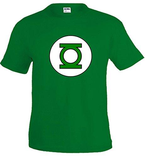 Mx Games Camiseta Linterna Verde (Logo clásico) (Talla: TallaXS Unisex Ancho/Largo [49cm/62cm] Aprox)