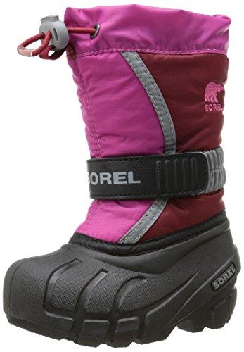 Sorel Toddler Flurry TP Winter Boot (Toddler),Red Dahlia/Glamour,5 M US Toddler