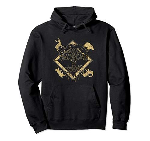 Viking Pagan Gift Norse Mythologie Valhalla Pullover Hoodie